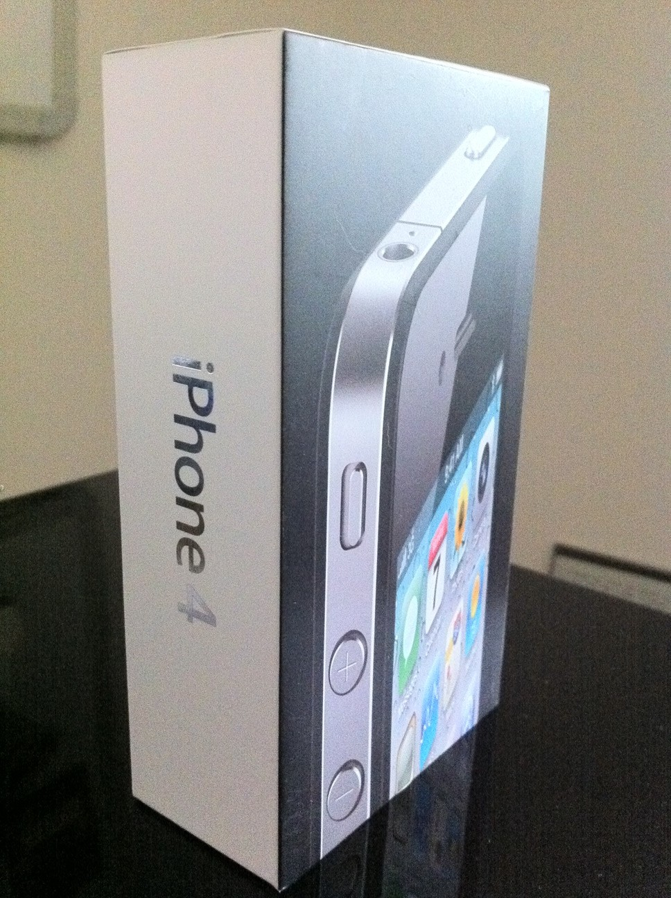 The iPhone 4 package nearly as small as the device itself